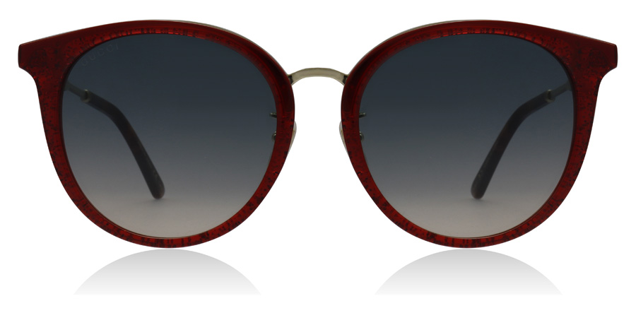Gucci GG0204SK Rood / Goud 005 56mm
