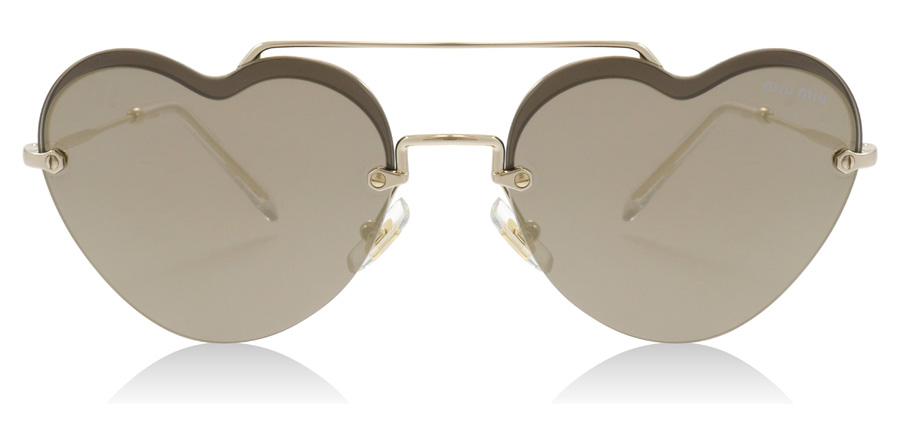 Miu Miu MU62US Core Collection Pale Gold ZVN1C0 58mm