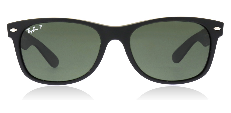 Ray-Ban RB2132 New Wayfarer Rubber Zwart 622/58 55mm Gepolariseerd