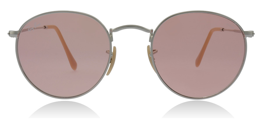 Ray-Ban RB3447 Round Metal Silver 9065V7 50mm