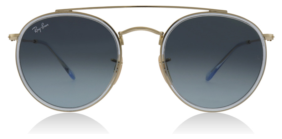 Ray-Ban RB3647N Goud / Grijs 91233M 51mm