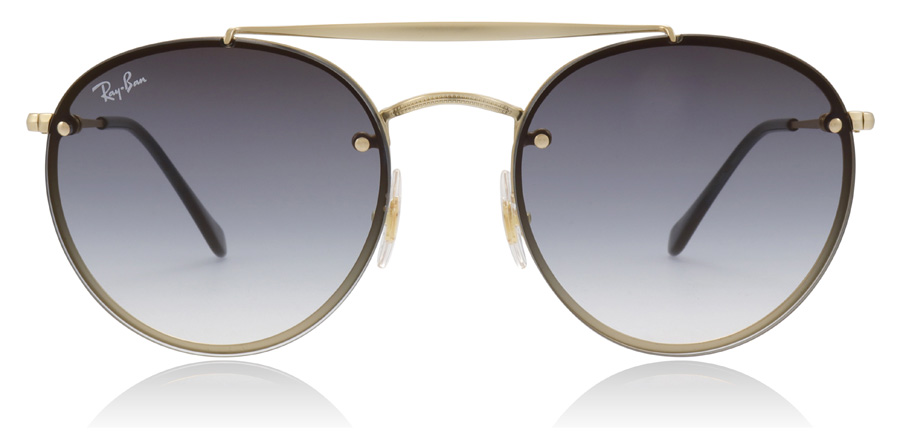 Ray-Ban Blaze Round Double Bridge RB3614N Demi / Gold 91400S 54mm