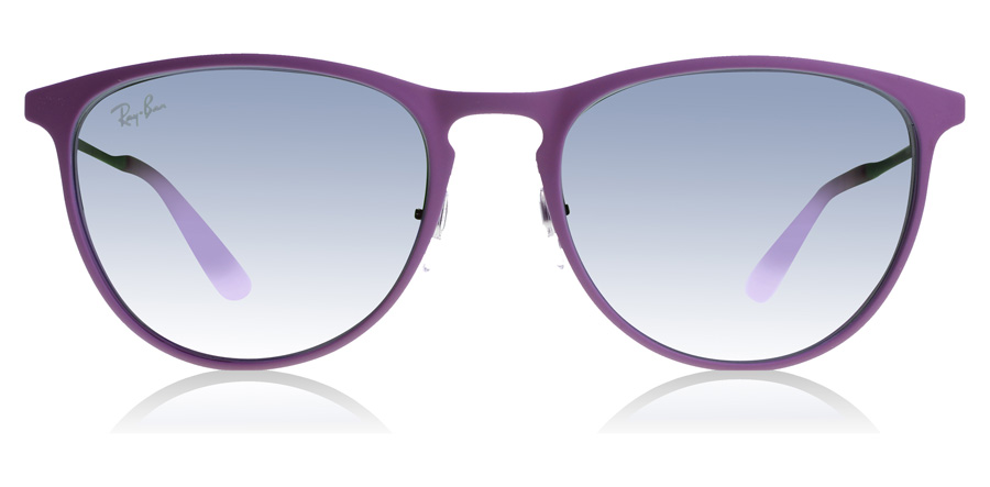 Ray-Ban Junior RJ9538S 8-12 Years Age Rubber grijs/roze paars 254/4V 50mm