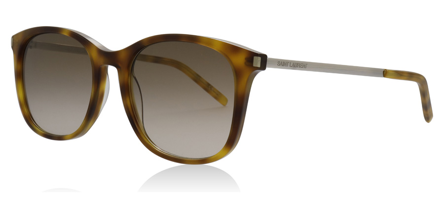 Saint Laurent SL111 Shiny Olive / Havana 002 53mm