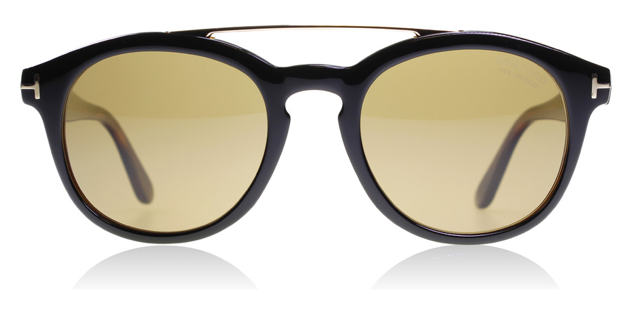 Tom Ford Newman FT0515 Zwart Donker Havana 05H 53mm Gepolariseerd