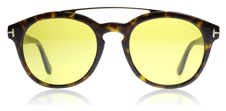 Tom Ford Newman FT0515 Glanzend Oplopend Havana 52N 53mm
