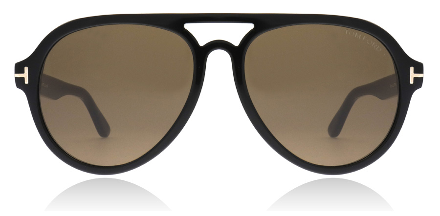 Tom Ford FT0596 Rory Glanzend zwart 01J 57mm