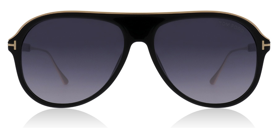 Tom Ford Nicholai FT0624 Glanzend zwart 01C 57mm