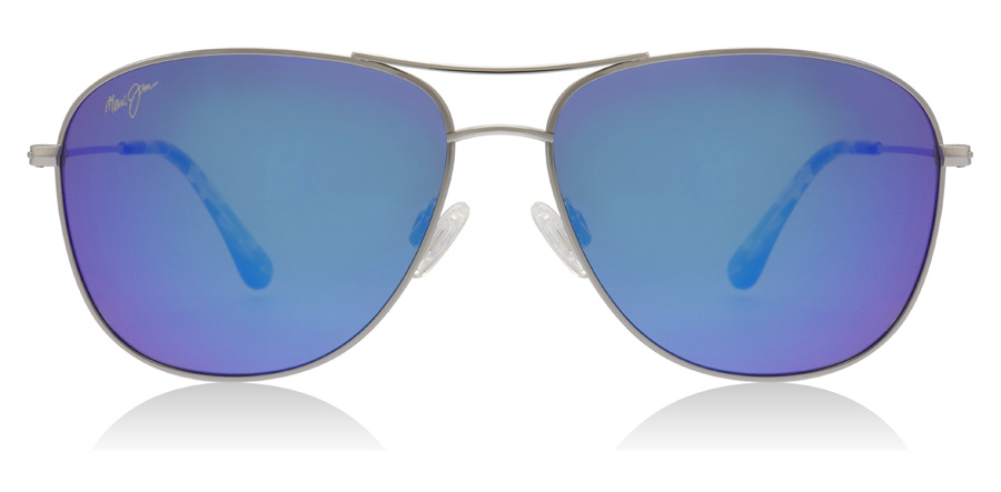 Maui Jim Cliff House B247 Zilver 59mm Gepolariseerd