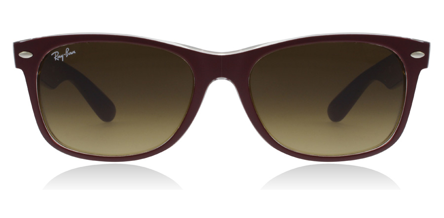 Ray-Ban RB2132 New Wayfarer Maroon 605485 52mm