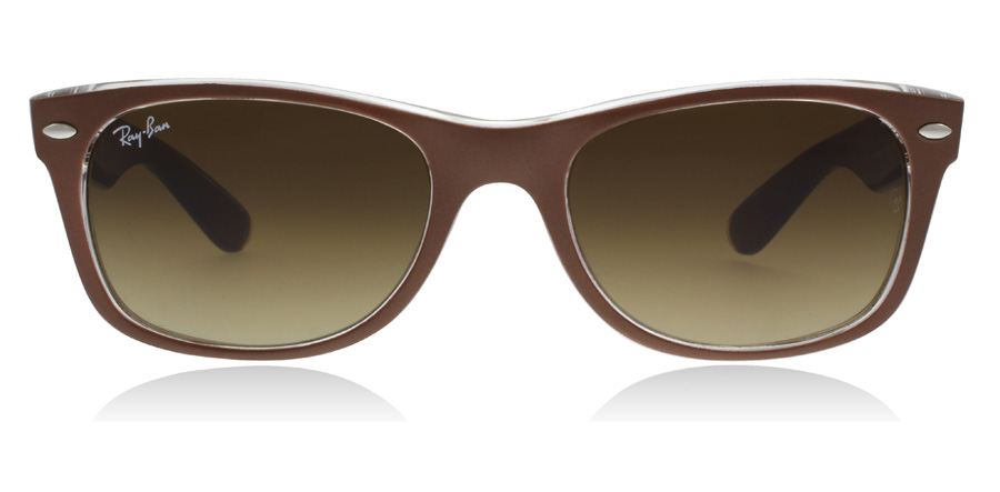 Ray-Ban RB2132 New Wayfarer Bruin / Doorschijnend 614585 52mm
