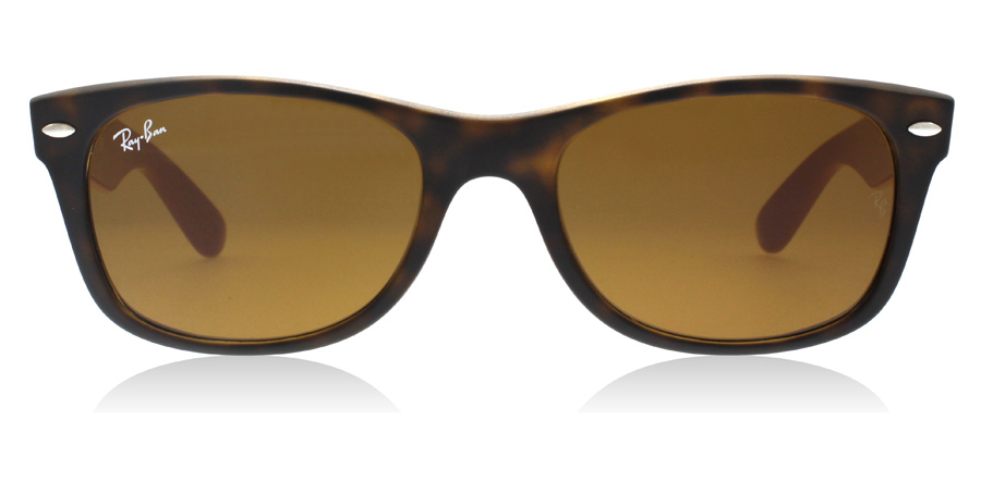 Ray-Ban RB2132 New Wayfarer Mat Tortoise / Grijs 6179 52mm