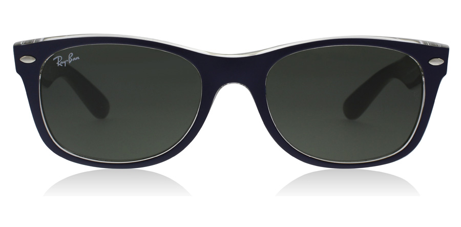 Ray-Ban RB2132 New Wayfarer Mat Blauw Militair Groen 6188 55mm