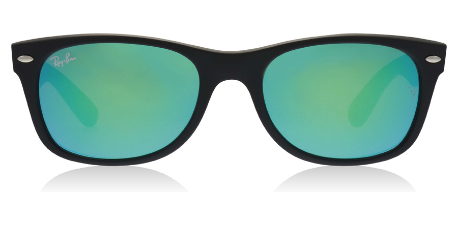Ray-Ban RB2132 New Wayfarer Mat Zwart 62219 55mm