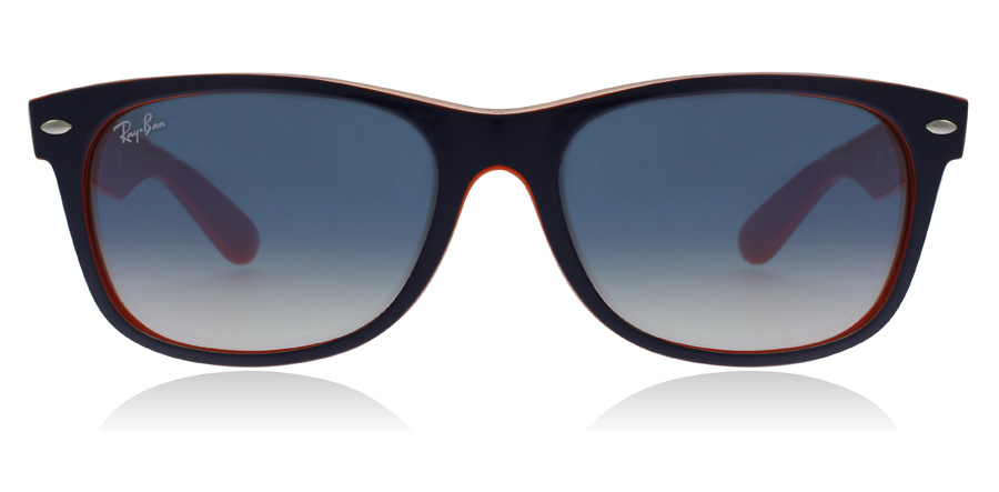 Ray-Ban RB2132 New Wayfarer Blauw Oranje 789/3F 52mm