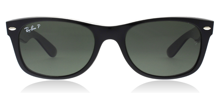 Ray-Ban RB2132 New Wayfarer Zwart 901/58 52mm Gepolariseerd