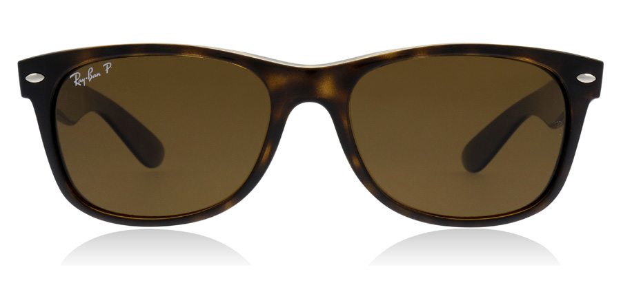 Ray-Ban New Wayfarer RB2132 2132 Tortoise 902/57 Gepolariseerd 55mm