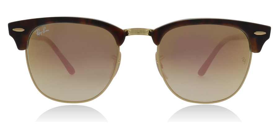 Ray-Ban Clubmaster RB3016 Glanzend Rood / Havana 990-7O 51mm