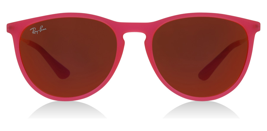 Ray-Ban Junior RJ9060S Age 8-12 Years Fuxia Fluo Doorzichtig Rubber 70096Q 50mm